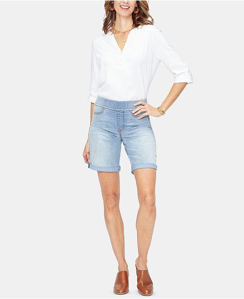 NYDJ Tummy-Control Denim Bermuda Shorts