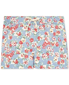 Polo Ralph Lauren Big Girls Floral Cotton French Terry Shorts