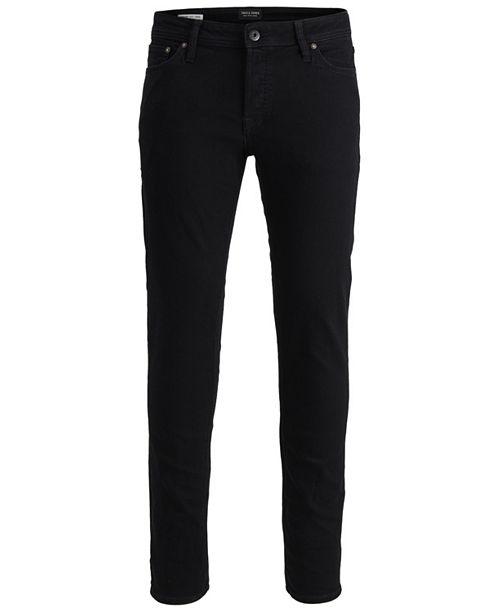 Jack & Jones Men's Slim-Straight Fit Classic Black Tim Jeans