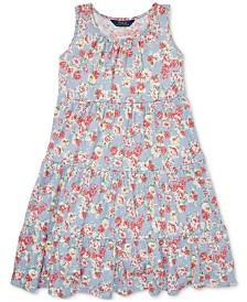 Polo Ralph Lauren Big Girls Floral Cotton Jersey Dress