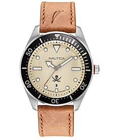 Men's NAPHCP903 Hillcrest Brown/Black/Parchment Leather Strap Watch