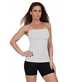 InstantFigure Compression Shaping Bandeau Strapless Top