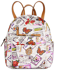 Giani Bernini Canvas Postcard Backpack, Created for Macy's