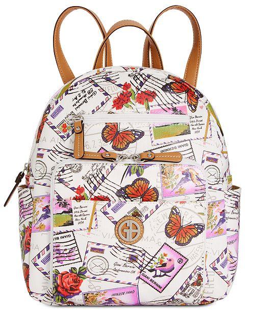 Giani Bernini Canvas Postcard Backpack, Created for Macy's