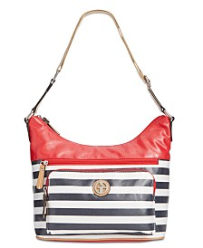Giani Bernini Canvas Stripe Hobo, Created for Macy's