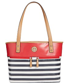 Giani Bernini Canvas Stripe Tote, Created for Macy's