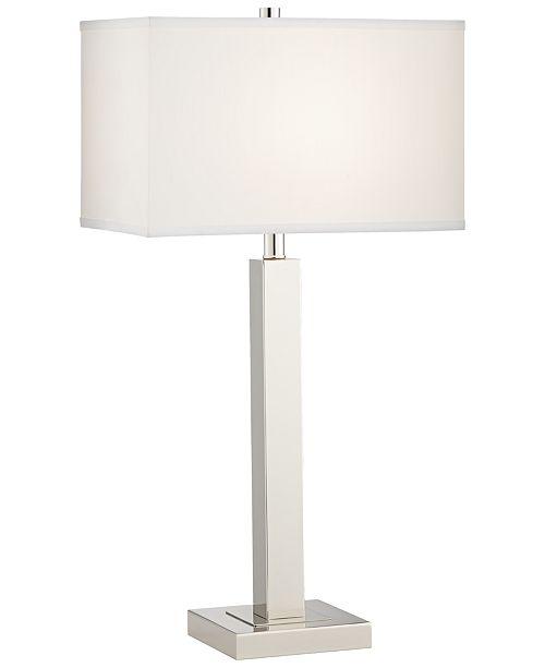 Pacific Coast 2x2 Metal Column Table Lamp