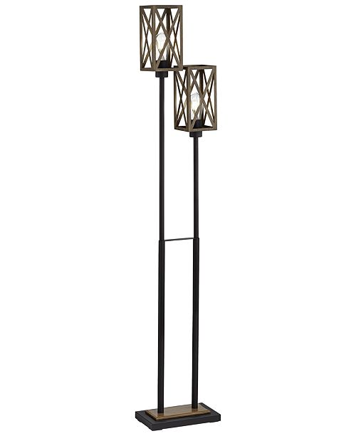 Pacific Coast Uplight 2 Cage Shade Floor Lamp