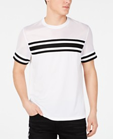 I.N.C. Men's Pieced Stripe Mesh T-Shirt, Created for Macy's