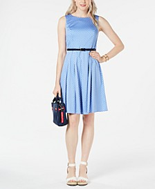 Belted Polka-Dot Dress, Created for Macy's