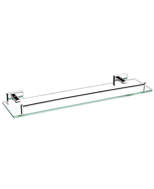 "Nameeks General Hotel 20"" Glass Shelf With Chrome Mounting"