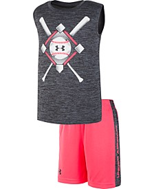 Little Boys 2-Pc. Baseball Anthem Tank Top & Shorts Set