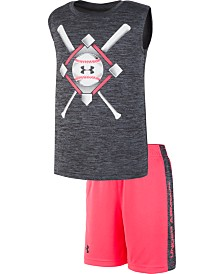 Under Armour Little Boys 2-Pc. Baseball Anthem Tank Top & Shorts Set