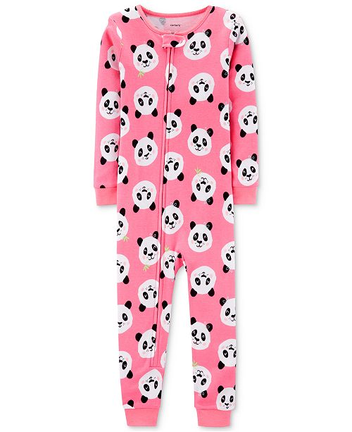 Carter's Toddler Girls Cotton Panda Pajamas