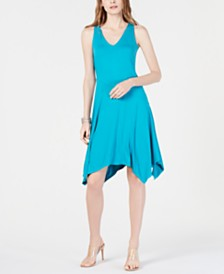 I.N.C. Sleeveless Asymmetrical-Hem Dress, Created for Macy's