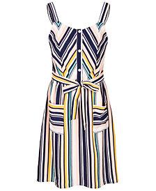 Monteau Big Girls Chevron-Stripe Dress