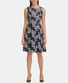 Tommy Hilfiger Garden Lace Fit & Flare Dress
