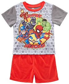 AME Toddler Boys 2-Pc. Marvel's Avengers Graphic Pajamas