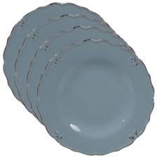 Certified International Vintage Blue 4-Pc. Dinner Plate