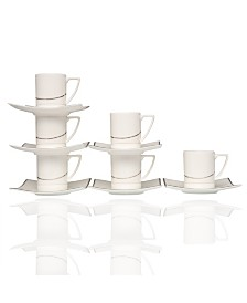 "Odett 4.5"" Espresso Cup and Saucer Set"