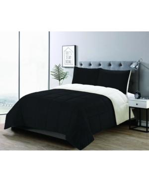 3 Piece Micromink Comforter set, King Bedding