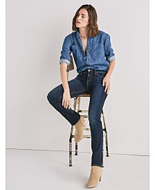 Lucky Brand Women's Ava Mid Rise Straight Jean
