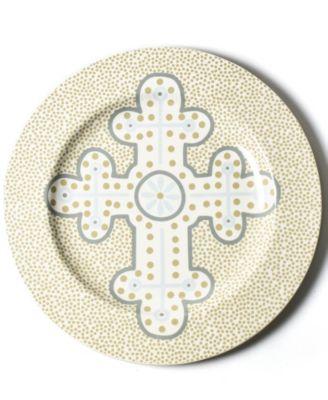 by Laura Johnson Cobble Neutral Cross Platter