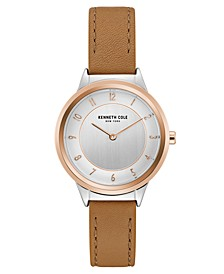 Ladies' Leather Strap with Case and Classic Dial, 34MM