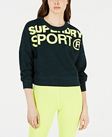 Active Cropped Graphic Sweatshirt