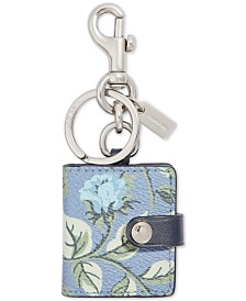 COACH Floral Picture Frame Bag Charm