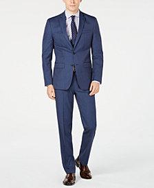 Van Heusen Men's Slim-Fit Flex Stretch Wrinkle-Resistant Navy Pindot Suit