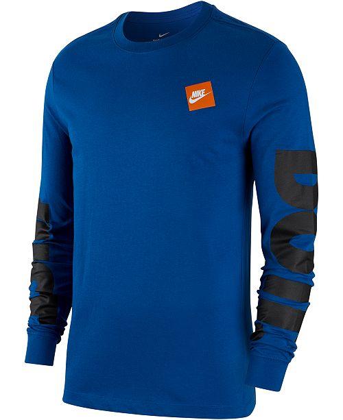 e3790df013d0b Nike Men's Sportswear Just Do It Long-Sleeve T-Shirt & Reviews - T ...