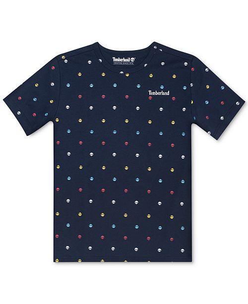 Timberland Big Boys Jackson Logo T-Shirt