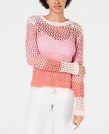 LEYDEN Crochet Pullover Sweater