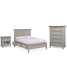 Sanibel Storage Bedroom Furniture, 3-Pc. Set (California King Bed, Nightstand, and Chest), Created for Macy's