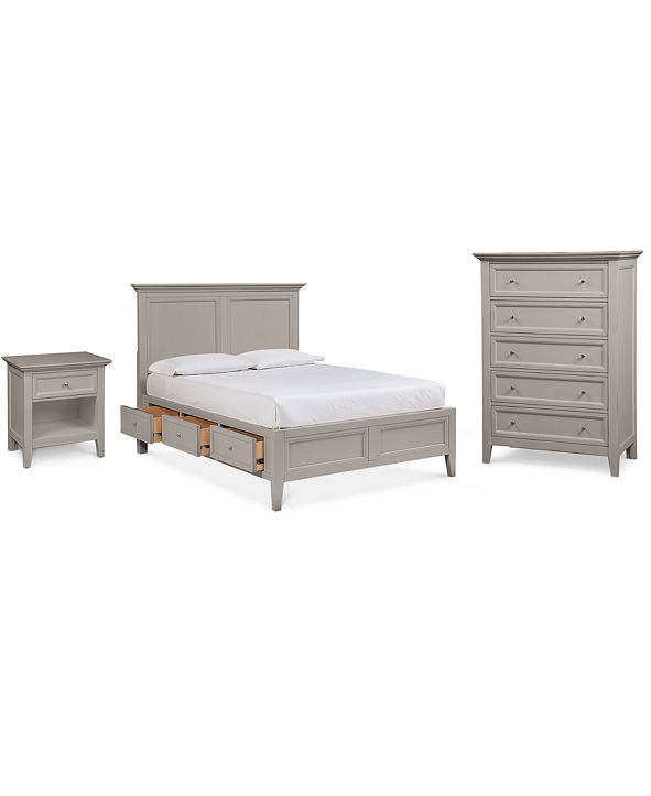 Furniture Sanibel Storage Bedroom Furniture, 3-Pc. Set (King Bed, Nightstand, and Chest), Created for Macy's