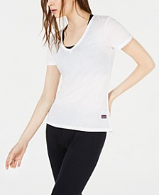 V-Neck Burnout T-Shirt