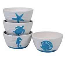 Certified International Natural Ice Cream Bowls, Set of 4