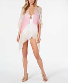 Calvin Klein Striped Beach Cover-Up