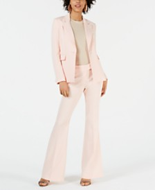 Rachel Zoe Suzanne Single-Button Notched-Lapel Blazer & Flare-Leg Pants