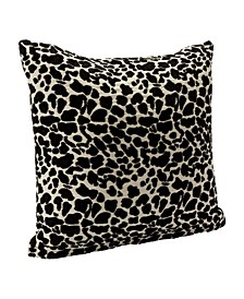 "Big Cat Black Animal Print 20"" Designer Throw Pillow"