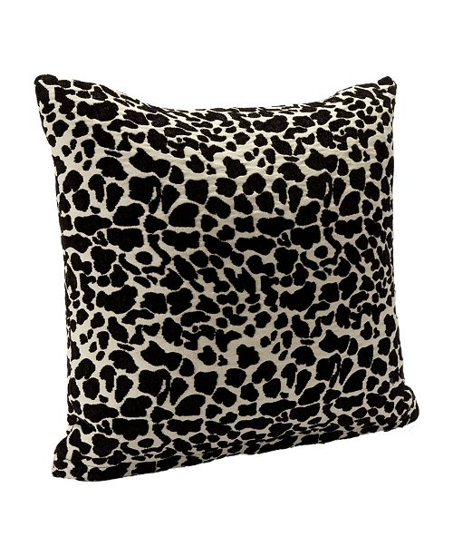 "Siscovers Big Cat Black Animal Print 20"" Designer Throw Pillow"