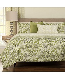 Lahaina Luau Tropical Reversible 6 Piece Queen Luxury Duvet Set