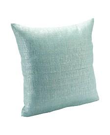 """Siscovers Sparkly Aqua 16"""" Designer Throw Pillow"""