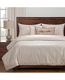 Sparkly Pearl 6 Piece Cal King High End Duvet Set
