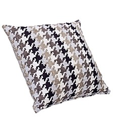 """Siscovers Hound Dog Charcoal 16"""" Designer Throw Pillow"""