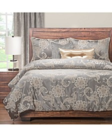 Opaline 6 Piece Cal King High End Duvet Set