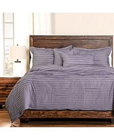 Tattered Lavender 6 Piece King Luxury Duvet Set