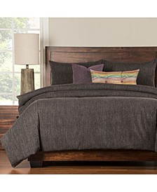 Steele Grey 6 Piece Cal King High End Duvet Set