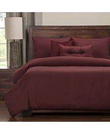 Camelhair Crimson 6 Piece Full Size Luxury Duvet Set
